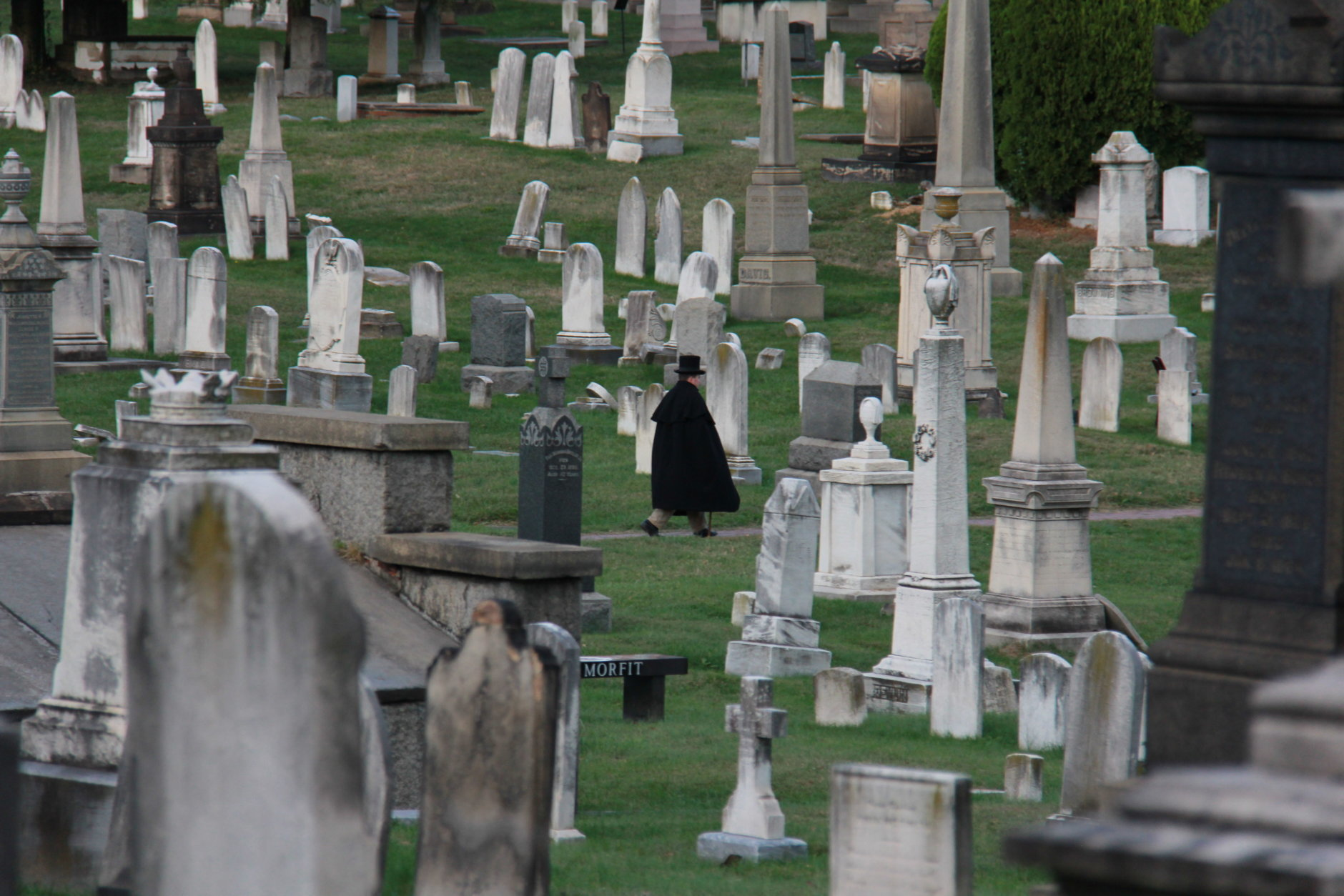 "On Oct. 19, 20, 26 and 27, Congressional Cemetery will lead its annual ""soul strolls"" through the 35-acre burial ground. Consider the event somewhat of a haunted history lesson. (Courtesy Historic Congressional Cemetery)"
