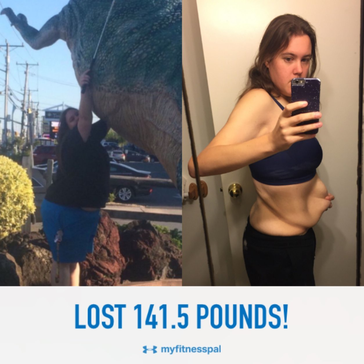 Roberts said her weight loss journey was far from straightforward. She lost 100 pounds in college only to gain it back, and she said this helped her realize that her motivation needed to be intrinsic and not based on what others think of her. (Courtesy Candace Roberts)