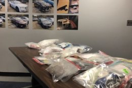 Drugs and other items were seized from a drug-dealing ring in Anne Arundel County, Maryland. (Capital News Service/Harrison Cann)
