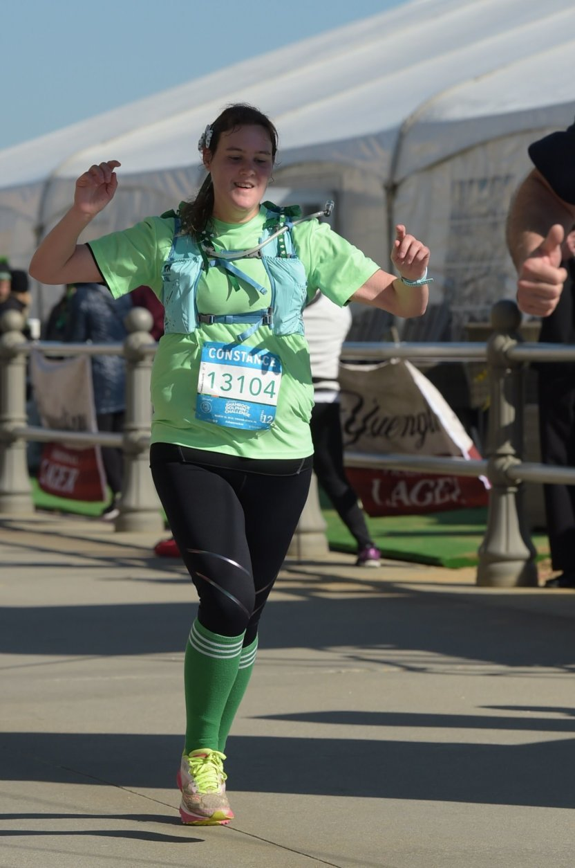 Roberts, 27, decided to train for a marathon after successfully completing her first 5K. (Courtesy Candace Roberts)
