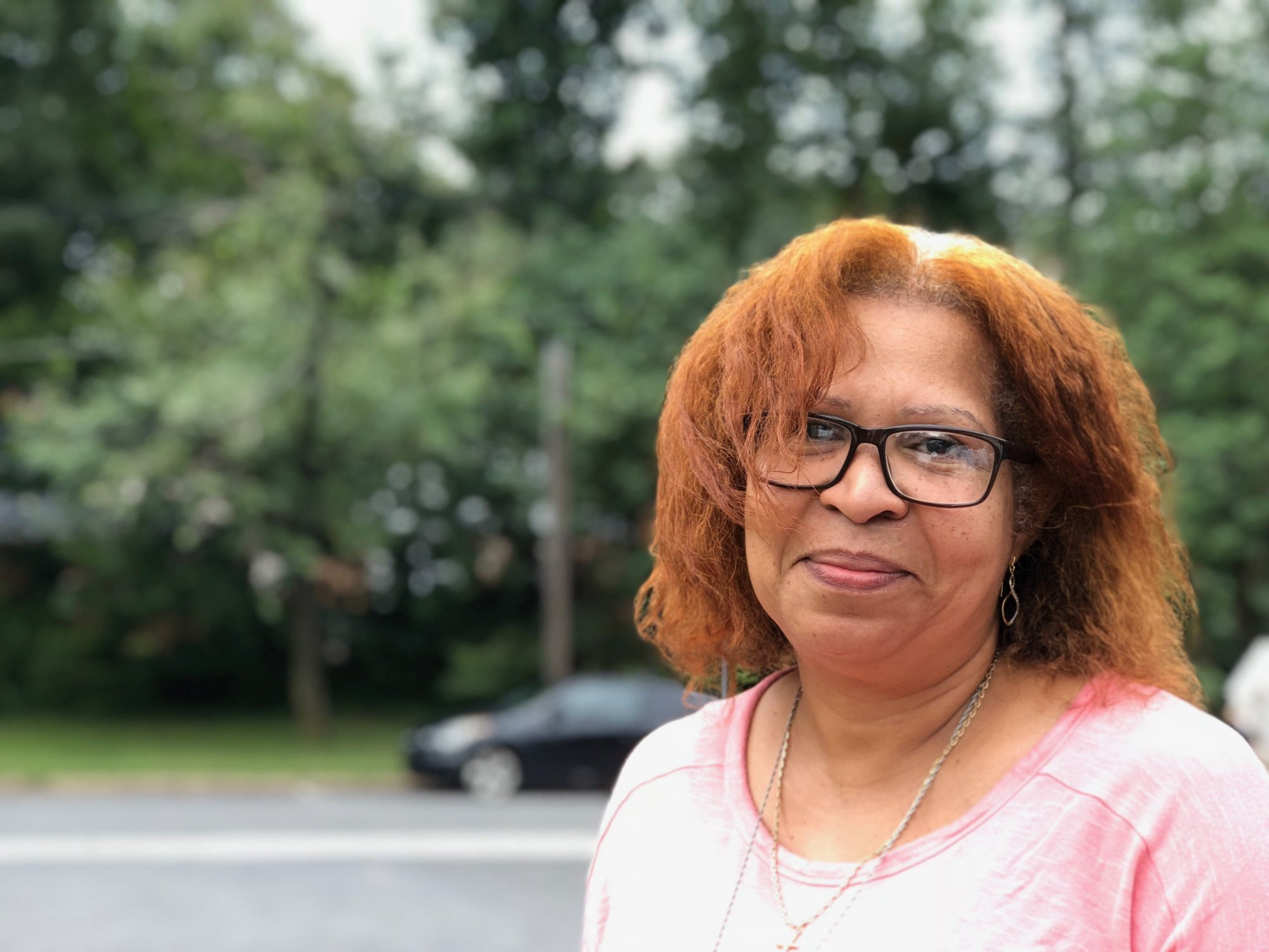 Donna Brown at the Cheverly Farmers Market says she wants added school security and would like more conversations about religious practice in schools (WTOP/Kate Ryan).