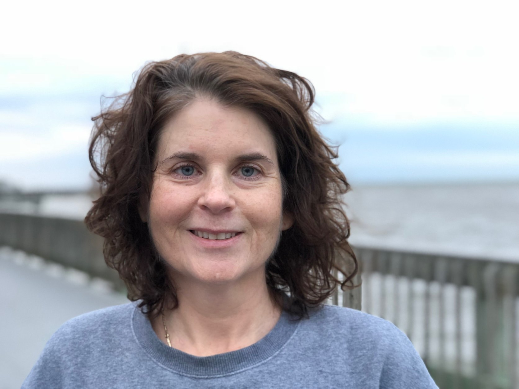 Linda Bednarski of Calvert County says health care costs and lower taxes for retirees are important to her. She wrote to Governor Larry Hogan two years ago and says she was very impressed with the detailed and timely response from his administration (WTOP/Kate Ryan).