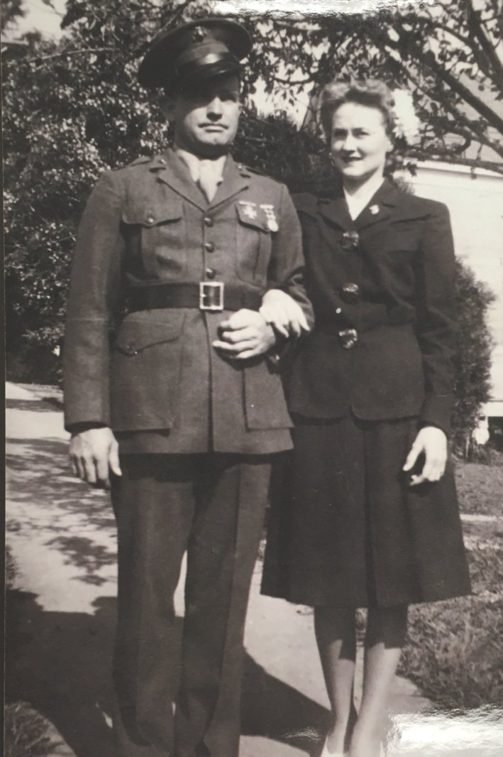 Kenneth Magee served in the Marine Corps and fought in the battle of Iwo Jima in 1945. (Courtesy of the Magee Family)
