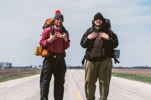 Walking across America for Purple Hearts