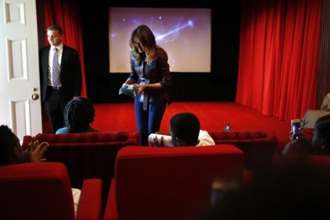 Melania Trump hosts students for movie at the White House