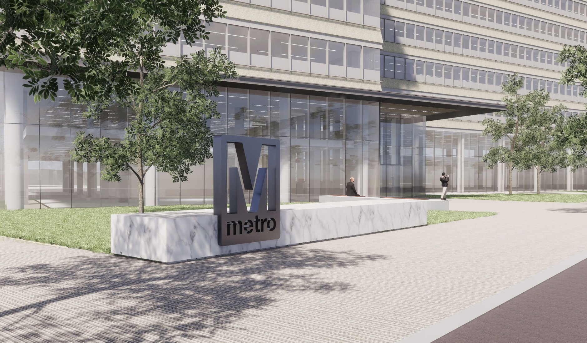 A conceptual drawing of the new Metro headquarters at L'Enfant Plaza. (Courtesy WMATA)