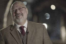"""In this image made from a March 2018 video provided by Metafora Production, Jamal Khashoggi speaks during an interview at an undisclosed location. Eighteen days after Khashoggi disappeared, Saudi Arabia acknowledged early Saturday, Oct. 20, 2018, that the 59-year-old writer has died in what it said was a """"fistfight"""" inside the Saudi consulate in Istanbul. (Metafora Production via AP) (Metafora Production via AP)"""