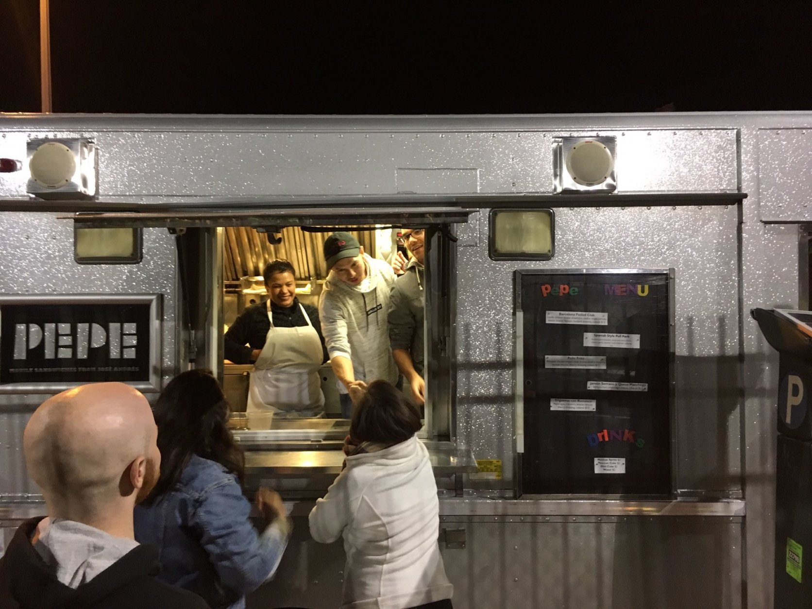 ThinkFoodGroup food truck Pepe was on hand to feed players and spectators alike. (WTOP/Noah Frank)