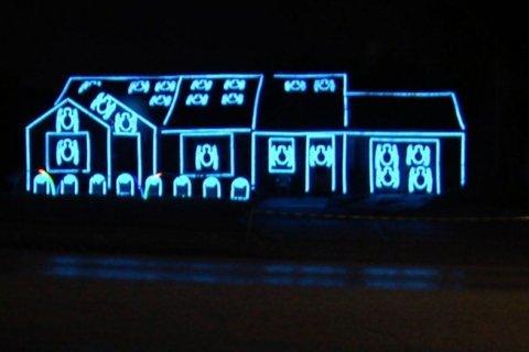 Halloween light display turns heads