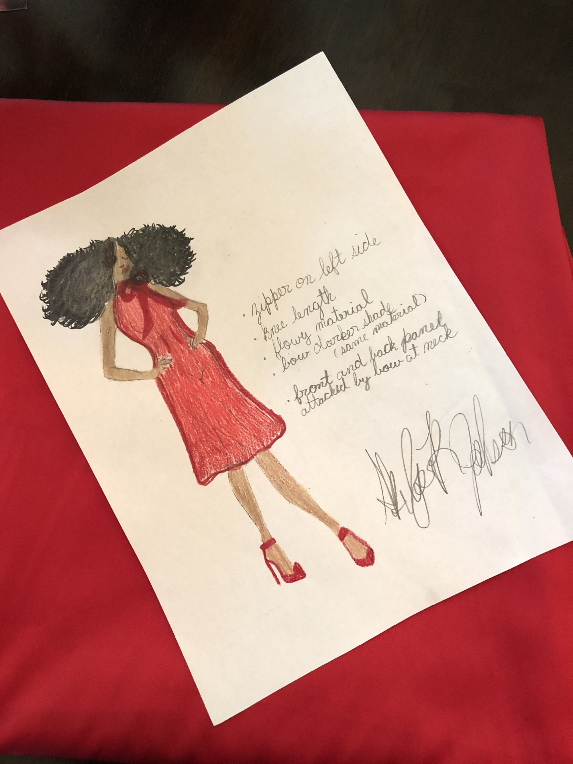 """""""The person that I want to make an outfit for that I look up to is Beyonce,"""" Skylar said. """"She's one of my dream clients."""" (Courtesy, Danyel Trammell)"""