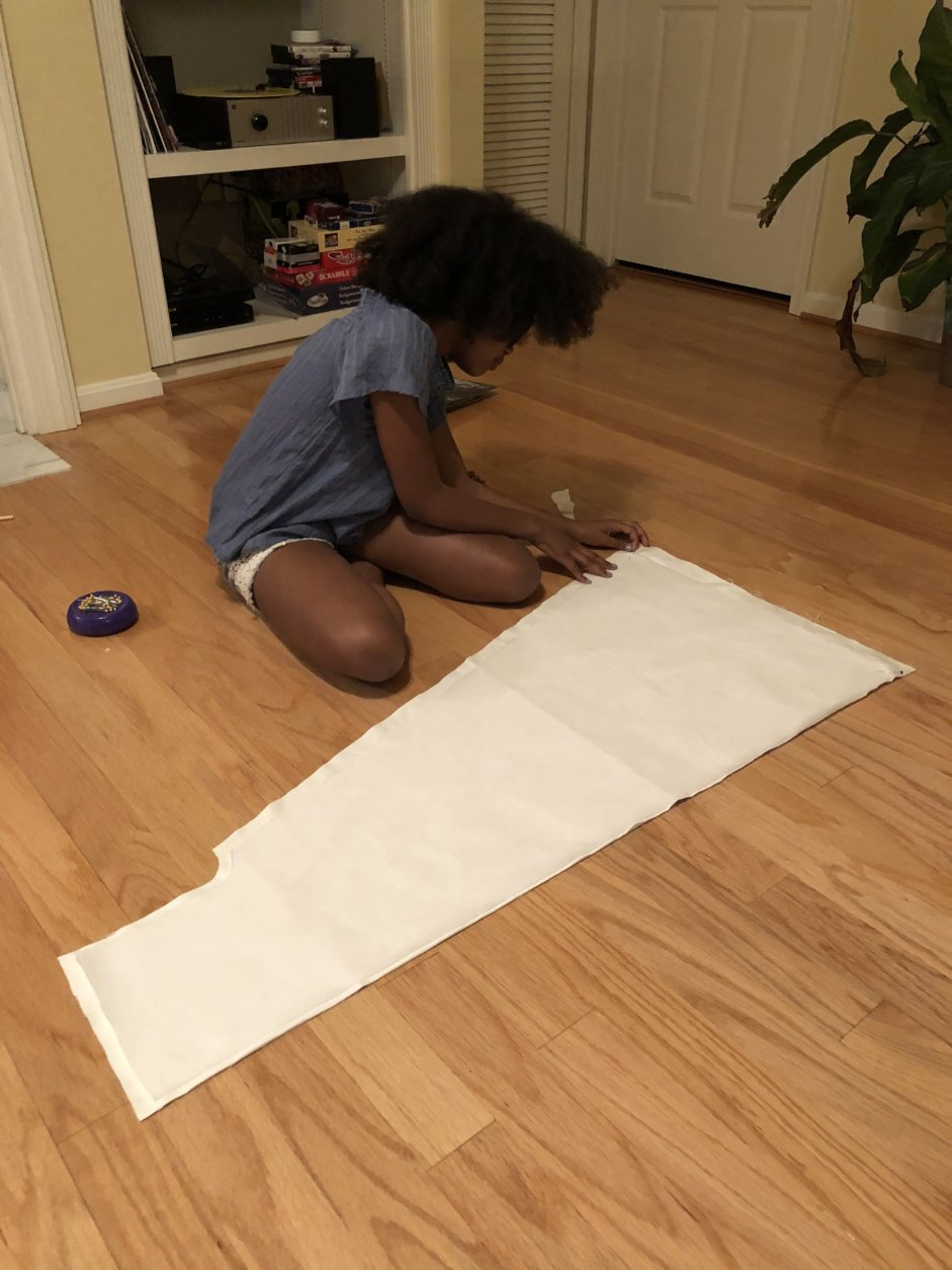 There's a lot of mathematics involved in getting design measurement's correct, Skylar said. Math is her favorite subject in school. (Courtesy, Danyel Trammell)