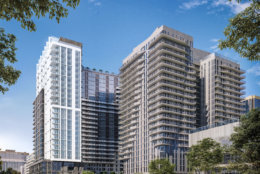 Developer Penzance will officially break ground on Oct. 24, starting the latest big development in Rosslyn that will add a total of three new residential towers to the Rosslyn skyline. (Courtesy Penzance)