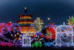 One Loudoun in Ashburn, Virginia will host an eight-week long cultural festival starting November 8 called LightUP Fest, and it will include more than 1 million lights. (Courtesy LightUP Fest)