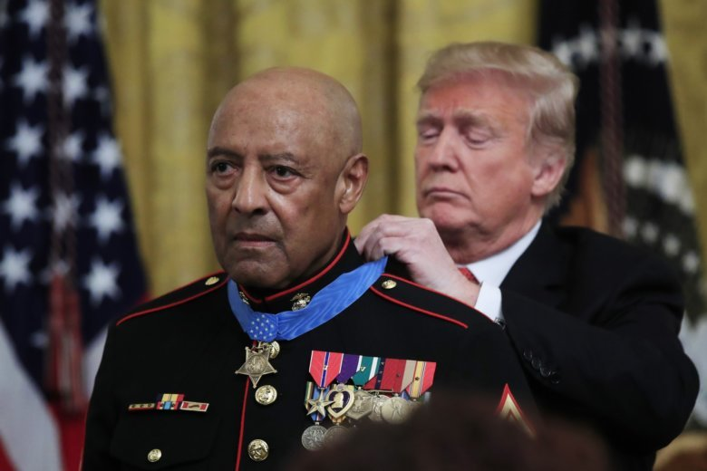 Trump presents Medal of Honor at White House