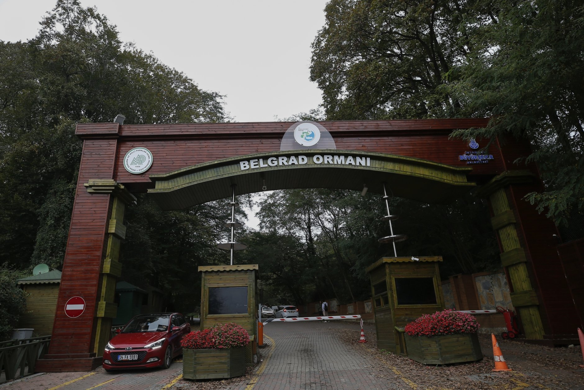 The entrance to the Belgrade Forest on the outskirts of Istanbul, Saturday, Oct. 20, 2018. A Turkish official told AP that investigators are looking into the possibility that Khashoggi's remains may have been taken outside Istanbul. Speaking on condition of anonymity because the investigation is ongoing, the official said police have established that two vehicles belonging to the consulate left the building Oct. 2. One traveled to the Belgrade Forest on the city's outskirts, while the other went to the city of Yalova, across the Sea of Marmara from Istanbul, the official said. (AP Photo/Emrah Gurel)