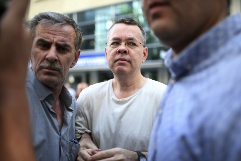 Turkish court releases U.S.  pastor Brunson after eventful hearing