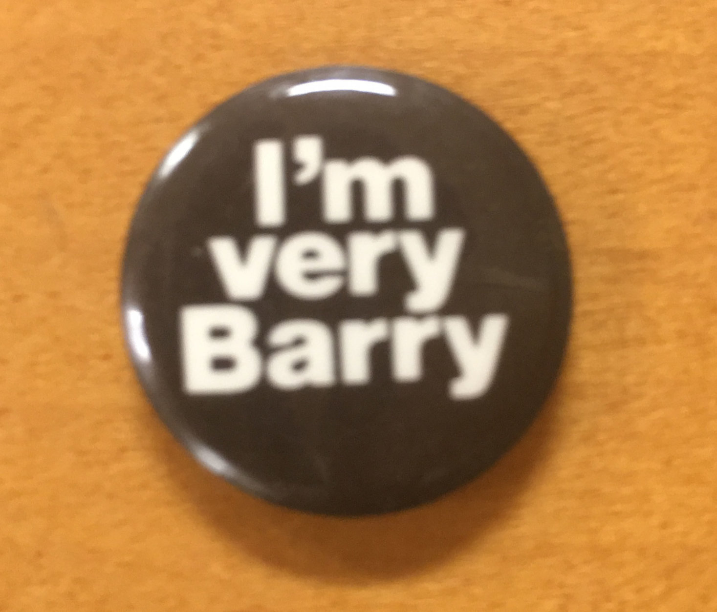 A campaign button at the Marion Barry 1978 Cmapaign Oral History Project, housed at the George Washington University's Gelman Library. (WTOP/Rick Massimo)
