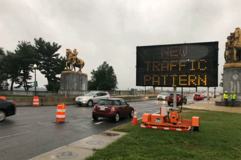 Construction on Arlington Memorial Bridge to close lanes overnight