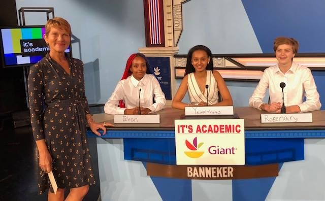 """On """"It's Academic,"""" Banneker competes against Northwest and Park View high schools. The show aired Nov. 10, 2018. (Courtesy Facebook/It's Academic)"""
