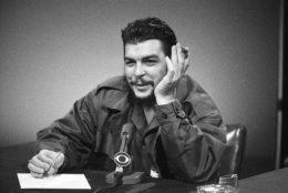 """Cuba's Ernesto """"Che"""" Guevara makes an appearance on """"Face the Nation"""" at CBS-TV studios in New York City, Dec. 13, 1964.(AP Photo)"""