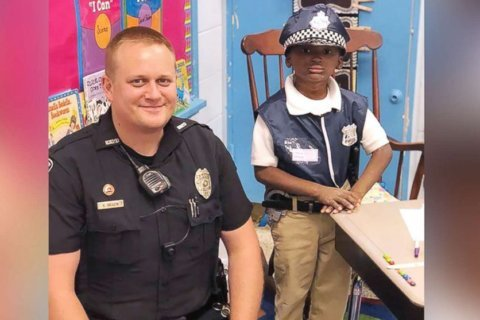 Boy whose condition keeps him inside for recess patrols with school officer instead