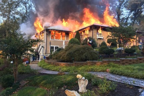 Blaze renders large Silver Spring house a 'total loss'
