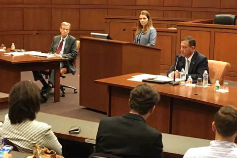 Frosh, Wolf get personal in highly-charged law school debate