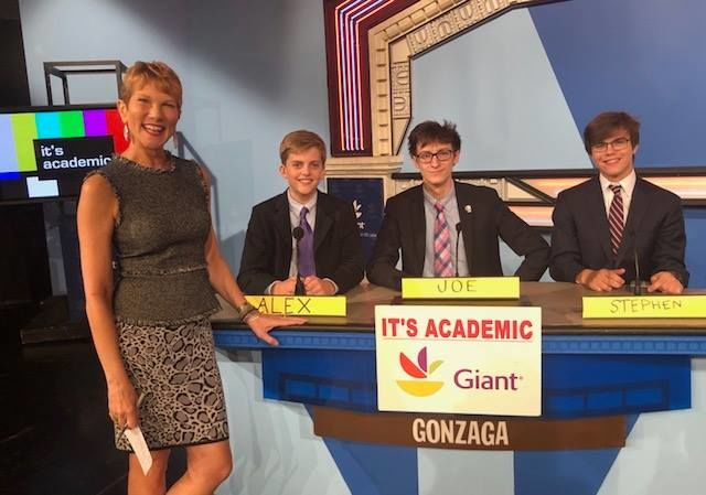 """On """"It's Academic,"""" Gonzaga competes against McLean and Osbourn high schools. The show aired Oct. 3, 2018. (Courtesy Facebook/It's Academic)"""