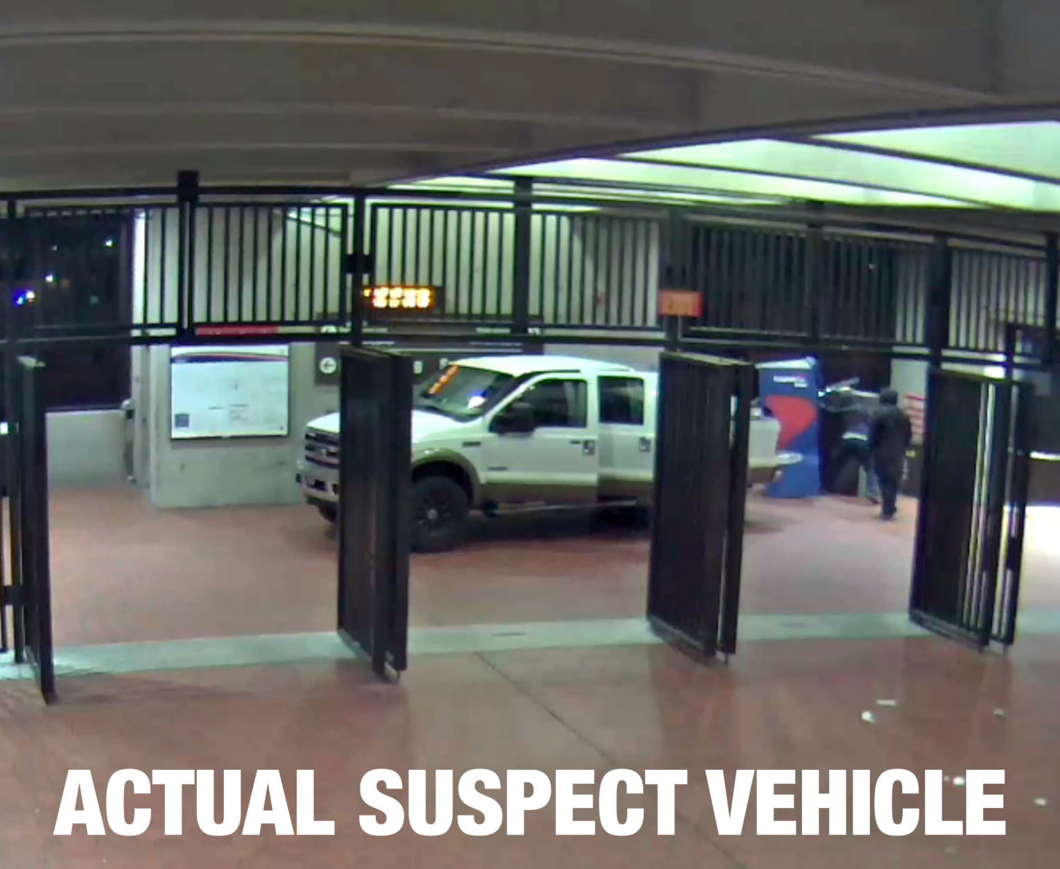 A photo of the vehicle suspected of stealing an ATM from a Metro station in Virginia. (Courtesy WMATA)