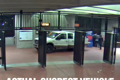 Crooks drive truck into Virginia Metro station to steal ATM