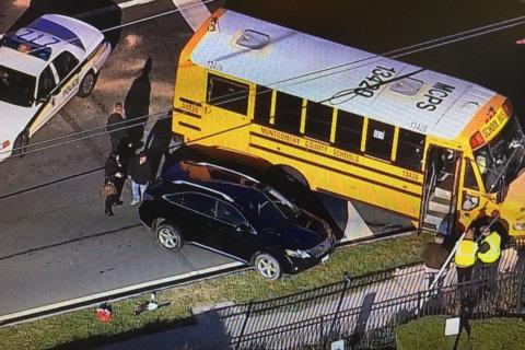 2 children injured in Md. Route 355 school bus crash
