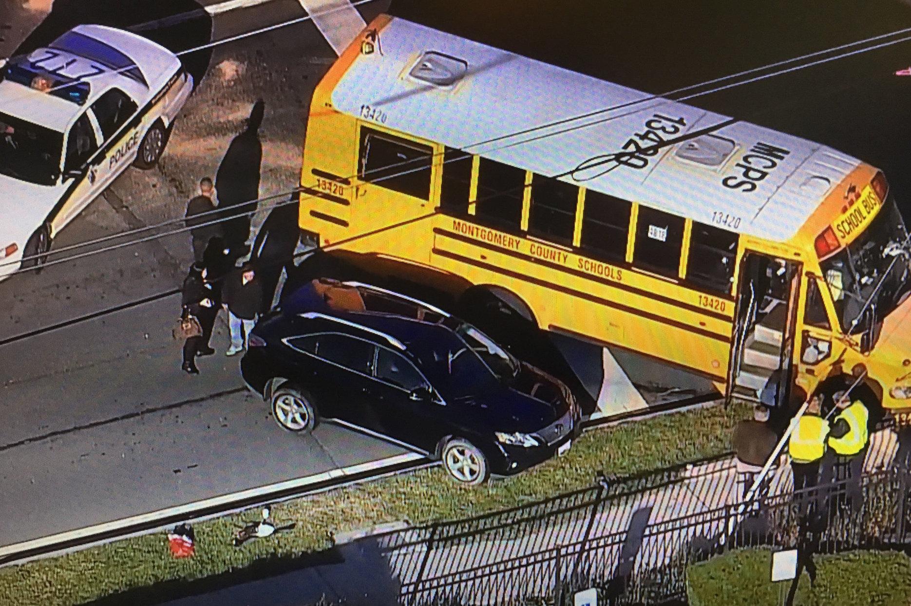 2 children injured in Md  Route 355 school bus crash | WTOP