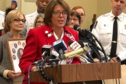 Maryland Delegate Geraldine Valentino Smith speaks on the red flag bill that took effect on Oct. 1. (WTOP/Kate Ryan)