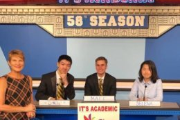 """On """"It's Academic,"""" Langley competes against Einstein and Holton Arms. The show aired Nov. 3, 2018. (Courtesy Facebook/It's Academic)"""