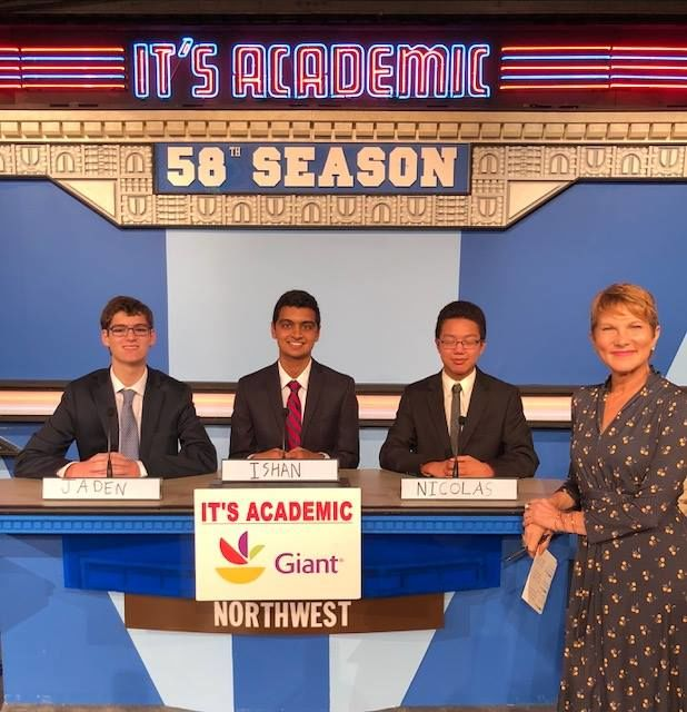 """On """"It's Academic,"""" Northwest competes against Banneker and Park View high schools. The show aired Nov. 10, 2018. (Courtesy Facebook/It's Academic)"""
