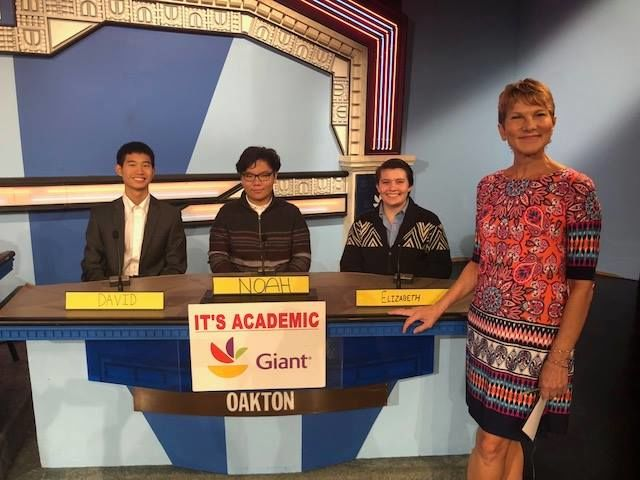 """On """"It's Academic,"""" Oakton High school competes against South Lakes and Wheaton. The show aired Oct. 6, 2018. (Courtesy Facebook/It's Academic)"""