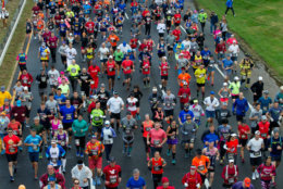 Over 20,000 people have started the marathon in recent years. (AP Photo/Jose Luis Magana)