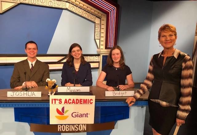 """On """"It's Academic,"""" Robinson High School competes against St. Stephen's and St. Agnes and Washington International. The Show aired Nov. 24."""