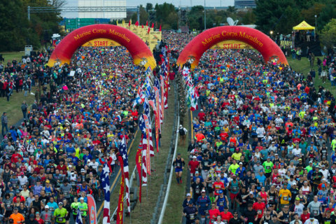 Runners take to DC, Va. streets for Marine Corps Marathon