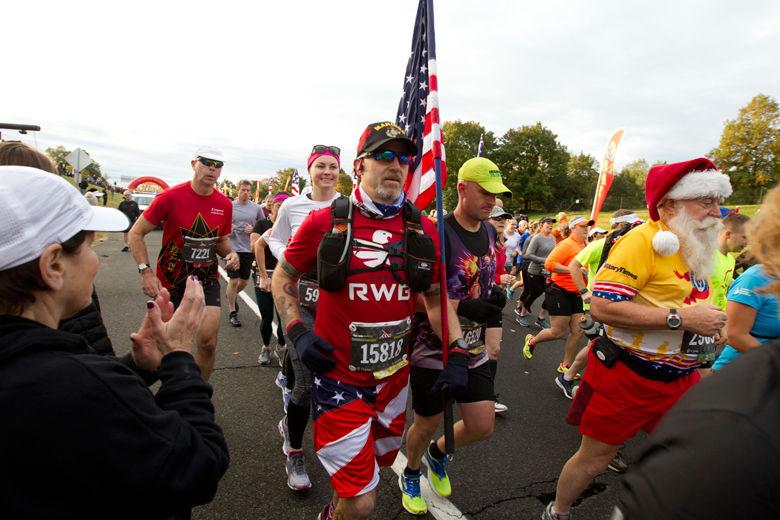 Runners start the Marine Corps Marathon on Sunday in Arlington. (AP Photo/Jose Luis Magana)