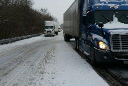 Route 7 in Loudoun County, Virginia, Thursday.  (Courtesy Virginia State Police)