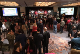 The room begins to fill at Gov. Larry Hogan's reelection watch party at the Westin Annapolis. (WTOP/Michelle Basch)