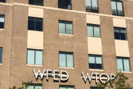 WTOP and WFED call letters befoe the big removal. (WTOP/Nahal Amouzadeh)