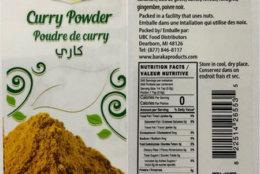 Curry powder recalled by UBC Food Distributors Inc. (FDA)