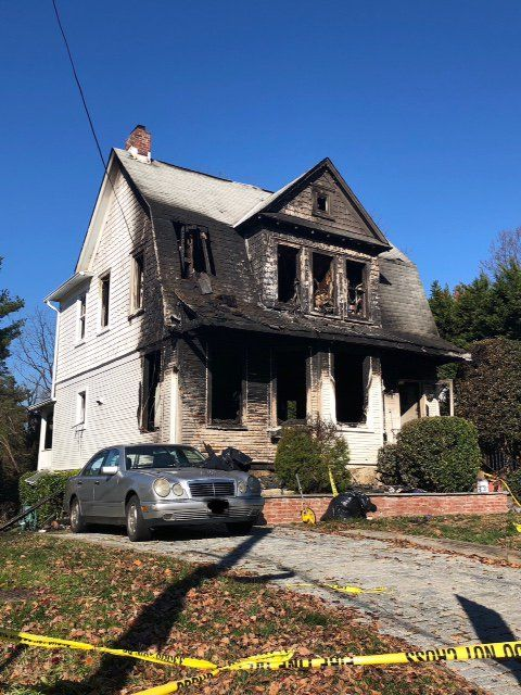 The Montgomery County home where a mother and son lost their lives after a fire Wednesday morning. (Courtesy Montgomery County Fire & EMS)