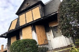 The aftermath of a fire Thursday that claimed the lives of a mother and son. (WTOP/Neal Augenstein)