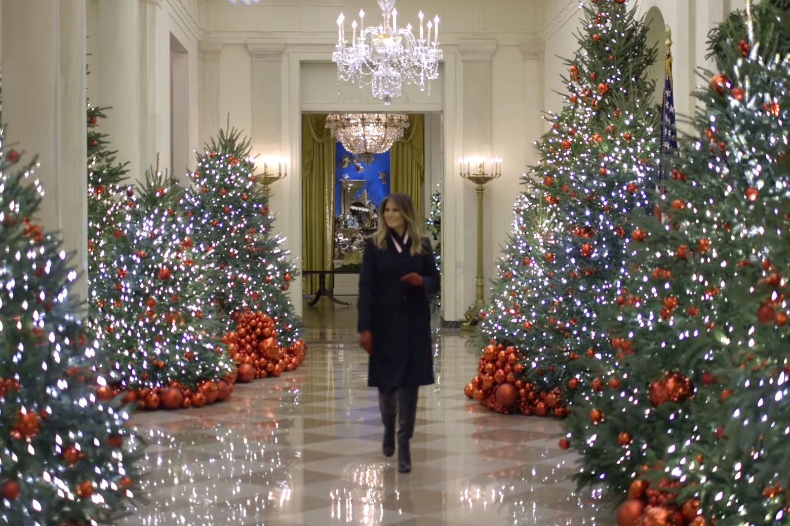 Christmas Decorations.Photos First Lady Unveils White House 2018 Christmas