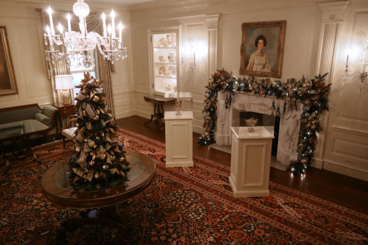 the vermeil room is decorated for the holidays at the white house november 26 2018 in washington dc the 2018 theme of the white house holiday decorations