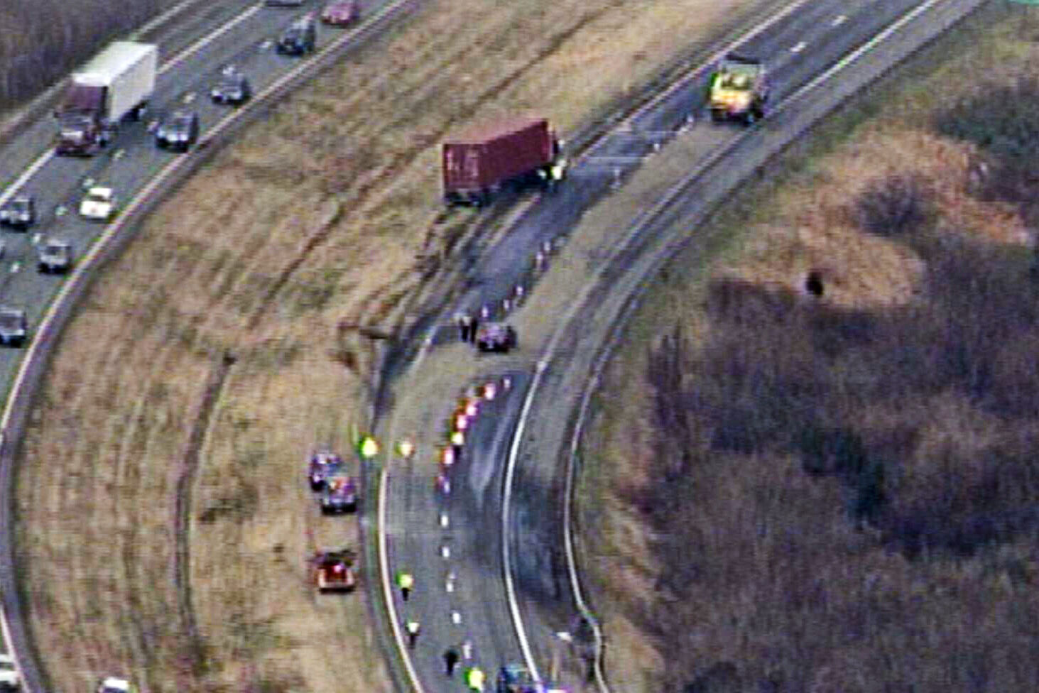 Inmate dead after tractor-trailer strikes him on I-70