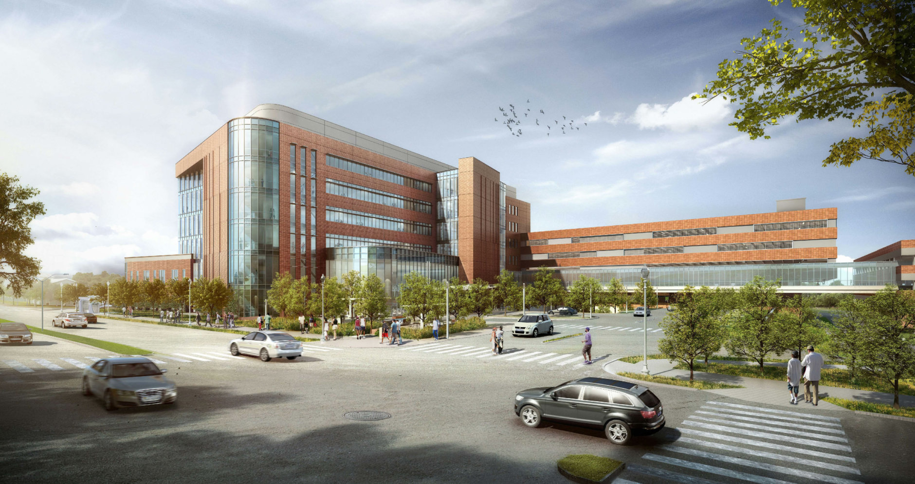 The view of the planned Virginia Hospital Center expansion. (Courtesy Virginia Hospital Center)